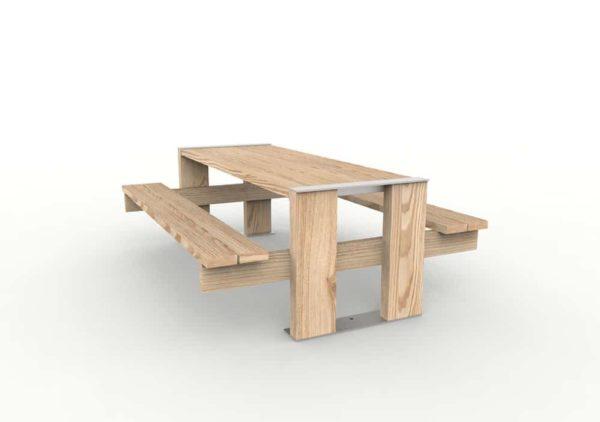 Une table pique-nique NUT vue de face, légèrement sur le côté gauche