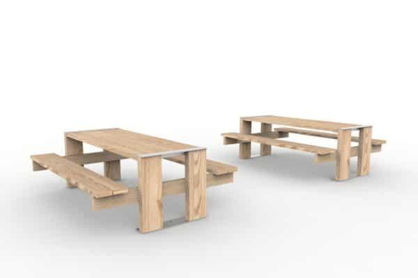 Deux tables pique-nique NUT côte à côte