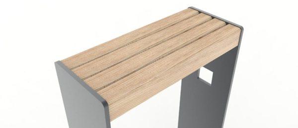 Zoom sur le bois qui compose les assis-debout CUB