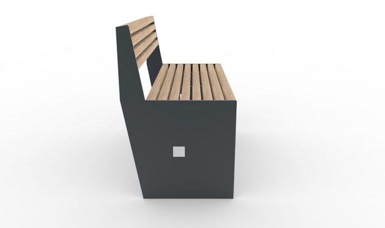 Un banc CUB gris vu de côté