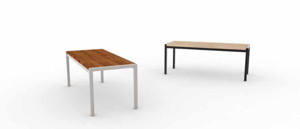 Une banquette PUR haut de gamme à gauche et une banquette PUR classique à droite