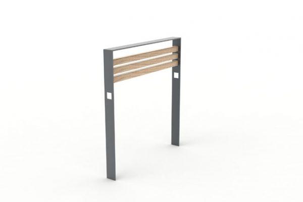 Une barrière CUB avec la structure en métal de couleur grise