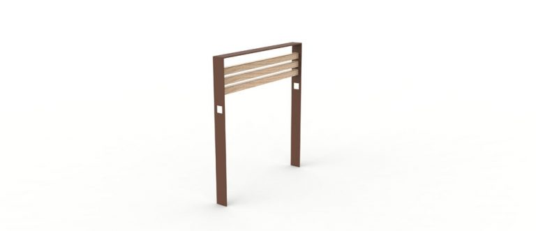 Une barrière CUB avec la structure en métal de couleur marron