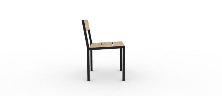 Une chaise PUR classique vue de côté