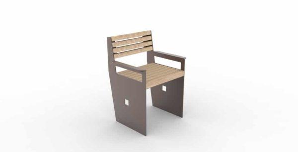 Un fauteuil CUB de couleur marron