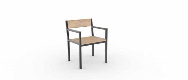 Un fauteuil PUR classique vu de face