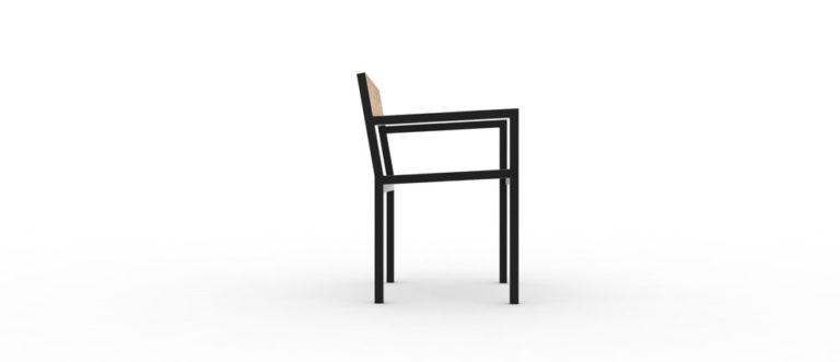 Un fauteuil PUR classique vu de côté