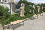 Trois banquettes classiques PUR en ligne dans un environnement réel