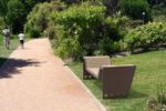Insertion 3D d'un divan CUB dans un environnement réel, ici un parc
