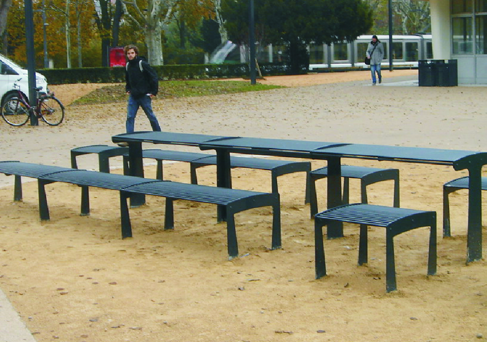 banc et table urbaine tub