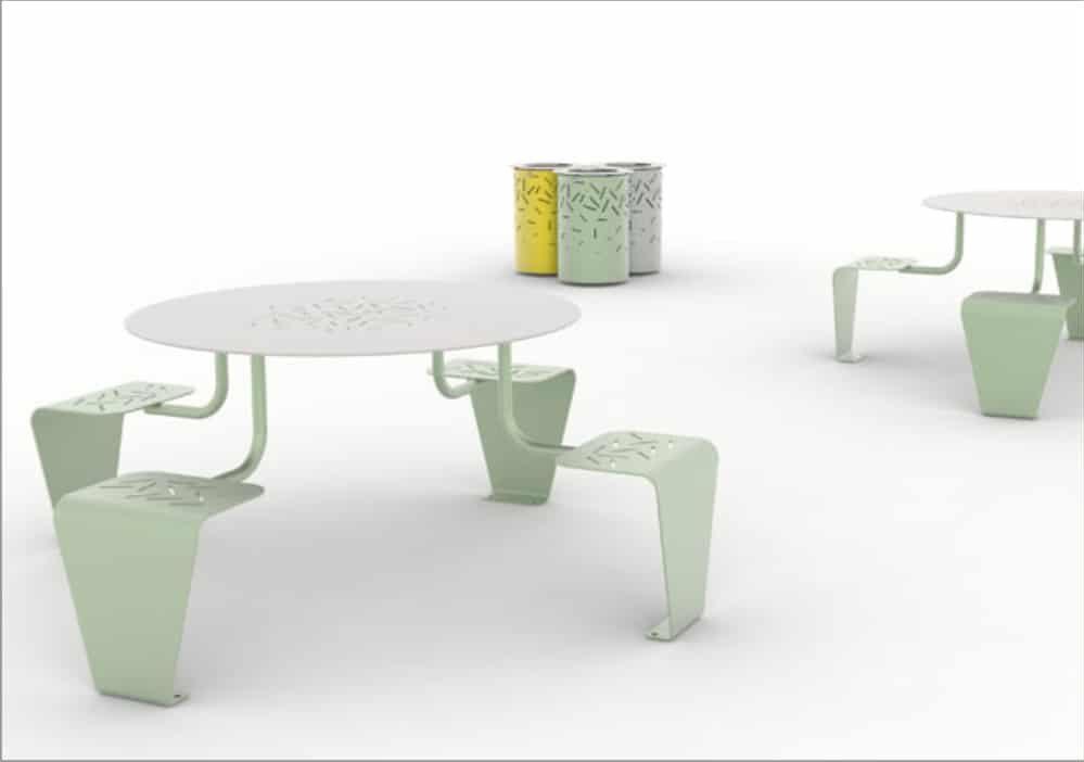 table avec siège intégré