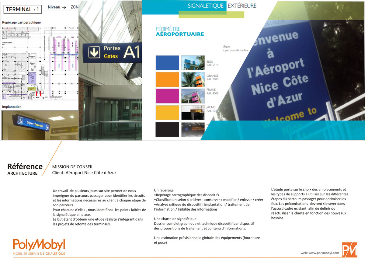 projet signalétique aéroport de nice par polymobyl