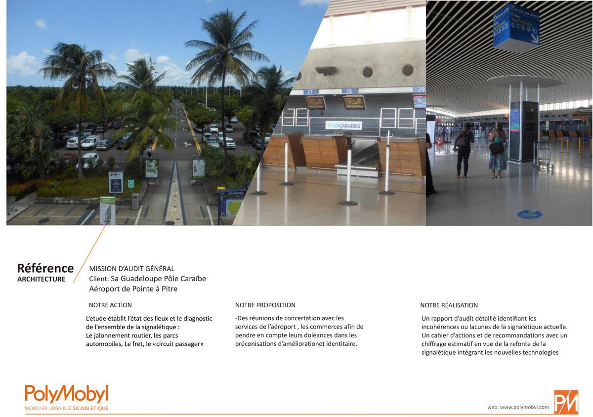 projet signalétique polymobyl pour l'aéroport de Guadeloupe