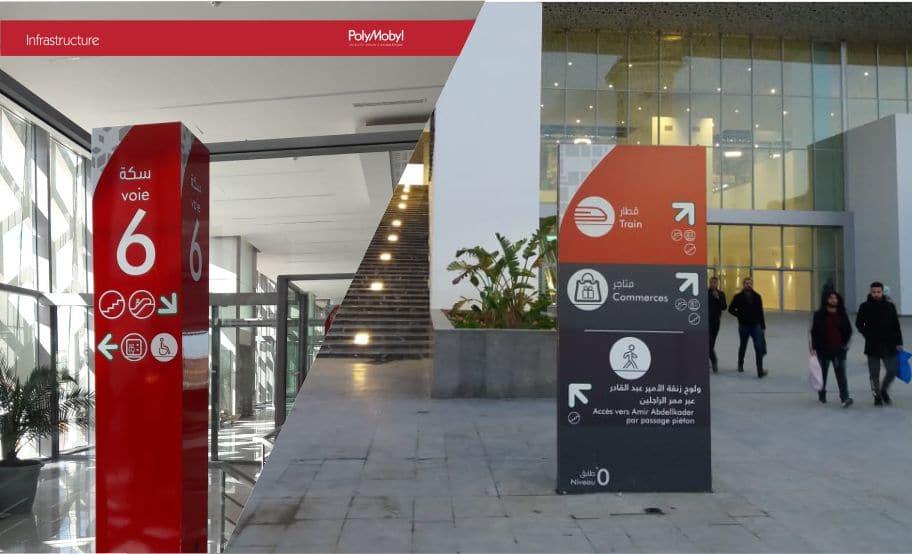 projet signalétique par polymobyl pour gares lgv du maroc