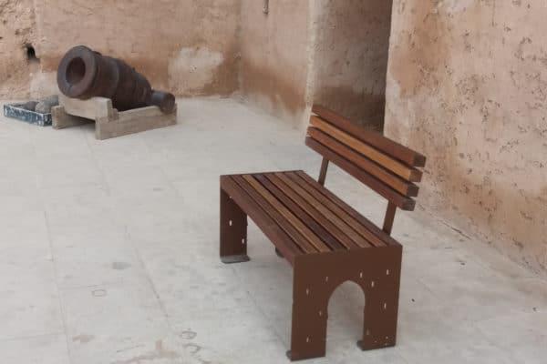 image banc palais al badi aménagement urbain maroc