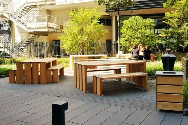 banquettes et tables de pique-nique urbaines polymobyl