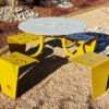 table de pique-nique urbaine métal lud de polymobyl