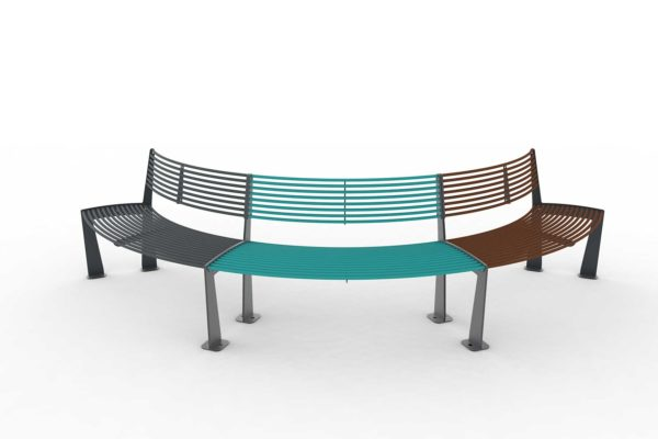 triple banquette circulaire urbaine tub polymobyl