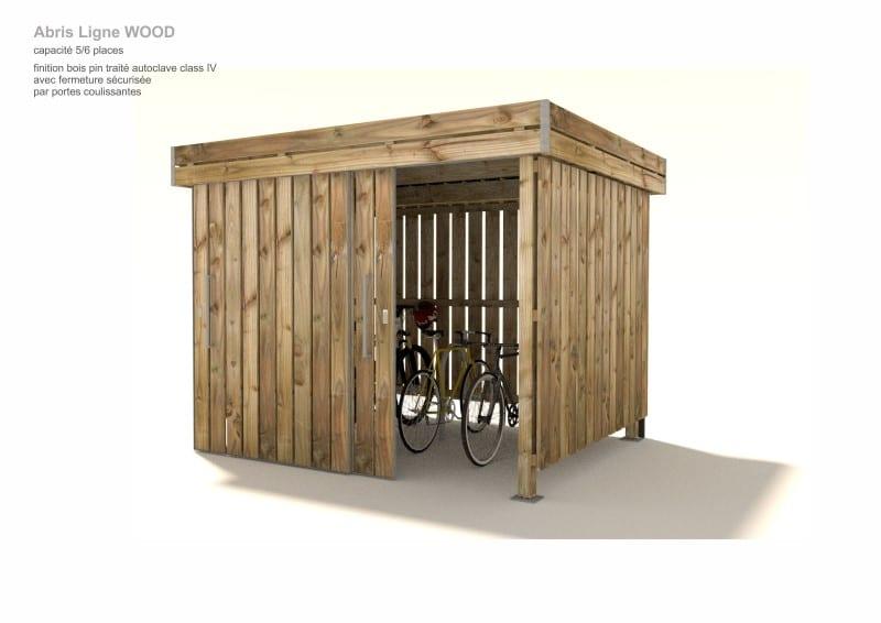 abris vélos polymobyl en bois avec porte