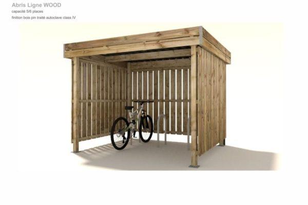 abri 2 roues en bois polymobyl