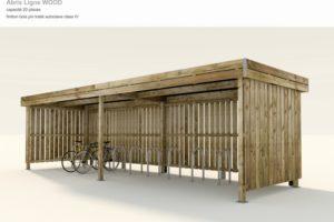 abri vélos polymobyl en bois 20 places