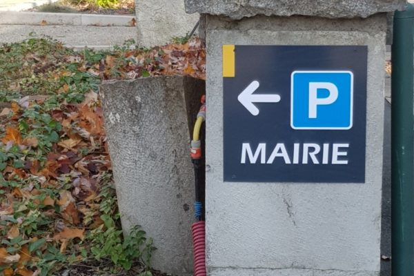 plaque directionnelle parking polymobyl
