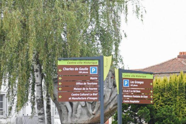panneaux directionnels urbains