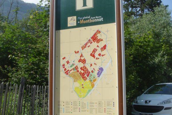 panneau d'orientation touristique