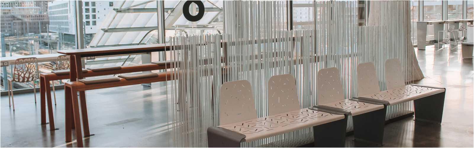 la gare de Nantes équipée de mobiliers connectés LUD